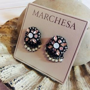 Marchesa Earrings with Faux Pearls